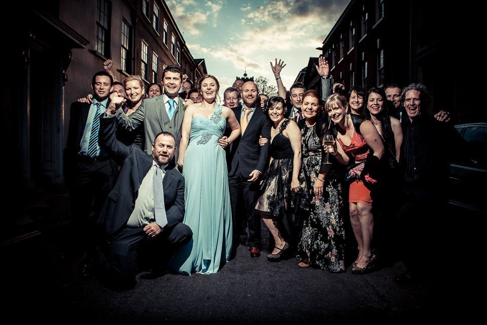 Group wedding shot example