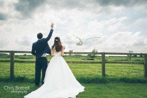 Godwick Great Barn wedding
