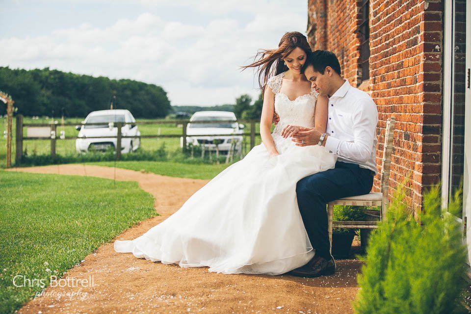 Godwick Great Barn wedding